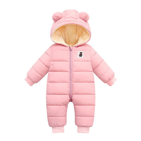 Newborn Infant Jumpsuit Romper Clothes Baby Hooded Thick Snowsuit Boys Girls Romper Baby Winter Coat Outwear Jacket Christmas