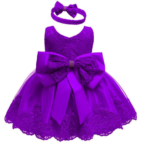 LZH  Baby Girls Dress Newborn Lace Princess Dresses For Baby first 1st Year Birthday Dress Carnival Costume Infant Party Dress