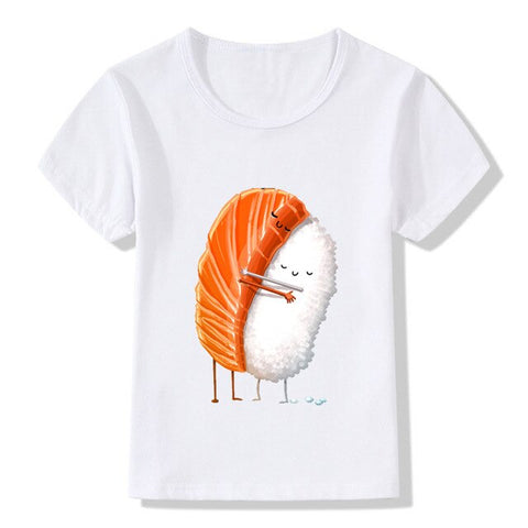 Toddler Boys Sushi Hug Print T-Shirts