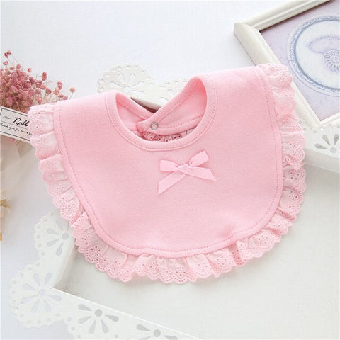 Baby Girls Assorted 360 Degree Lace Bib