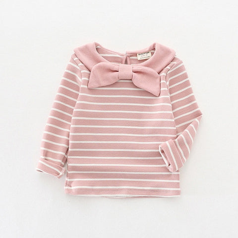 Striped baby t shirt fashion cotton baby girls tops tee shirts 2018 spring autumn children clothes autumn costumes girl t-shirt