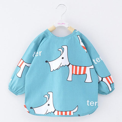 Baby Girls Assorted Long Sleeve Waterproof Apron Bibs