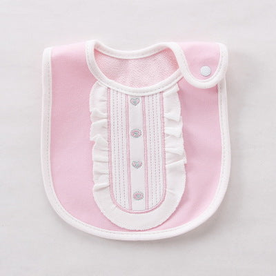 Baby Girls Necktie Towel Bibs