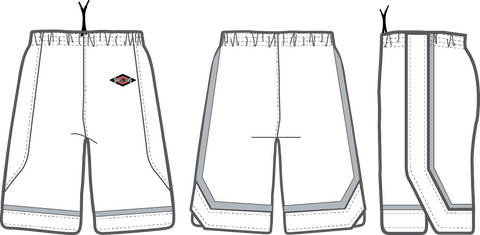 Shirts & Skins White/Silver Varsity 2 Game Short