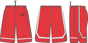 Shirts & Skins Scarlet/White Varsity 2 Game Short