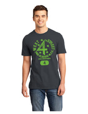 Charcoal /Neon Green West 4th Street Tee