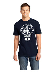 Navy/White West 4th Street Tee