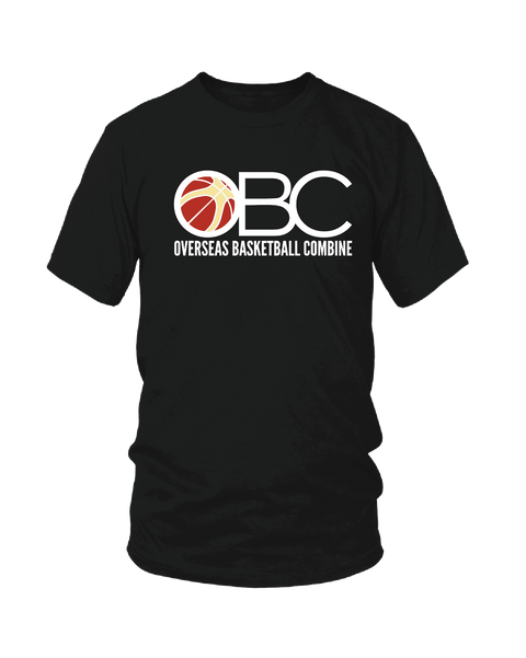 Black Overseas Basketball Combine Performance Blend Tee