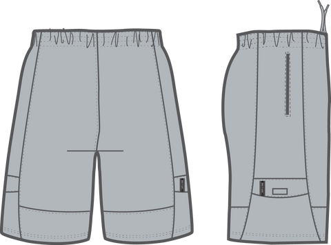 Shirts & Skins Silver Competitor Cargo Short