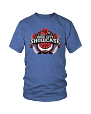 Royal Heather Rose City Showcase Logo Performance Tee