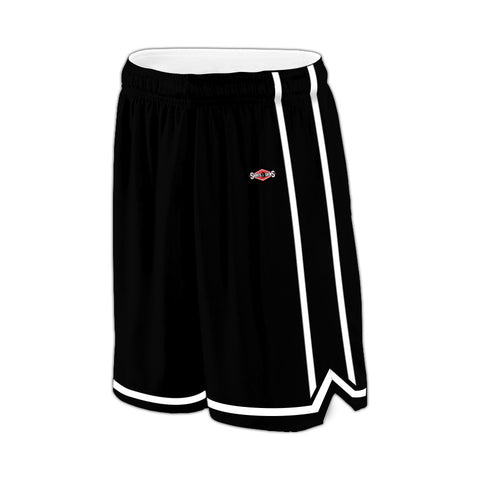 Shirts & Skins Black/White League Reversible Short