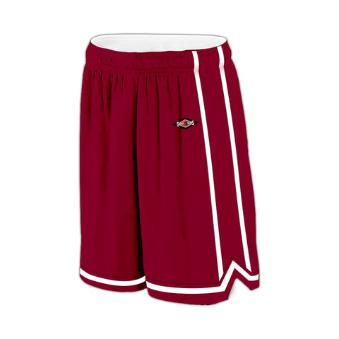 Shirts & Skins Cardinal/White League Reversible Short