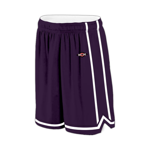 Shirts & Skins Purple/White League Reversible Short