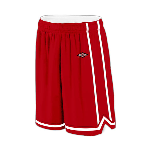 Shirts & Skins Scarlet/White League Reversible Short