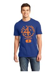 Royal /Orange West 4th Street Tee