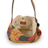 Interior view of the floral print tote with kantha stitching, Vivienne Kantha Tote.