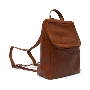 backpack side view, Addie Leather Backpack.