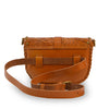 Back of tooled leather belt bag, Cassie Convertible Crossbody Bag.