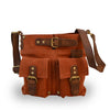 Brick colored suede crossbody bag, Joan Suede Crosbody Bag.