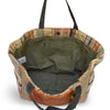Interior view of natural jute tote, Margie Jute Tote.