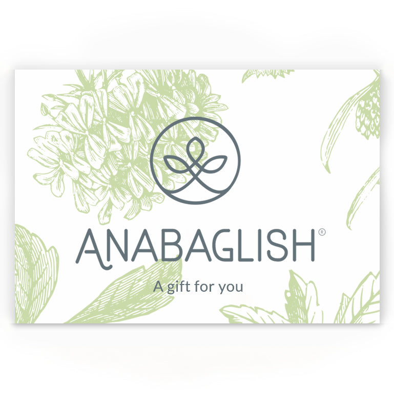 A gift for you, geranium print background, Anabaglish Gift Card.
