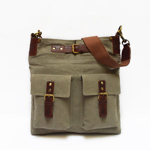 Useful bag, green bag, man's purse, unisex bag, Daily Crossbody Bag.