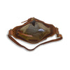 Interior view of brown quilted bag, Joan Quilted Crossbody Bag.