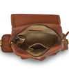 Sadie Leather Backpack, brown, interior view.