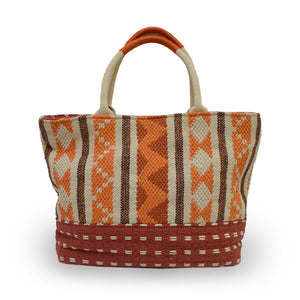 Orange fabric tote, Cara Fabric Tote.
