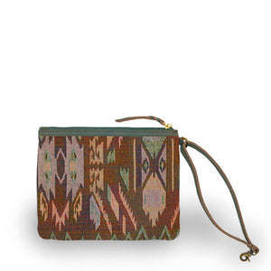 interior jaquard pouch, Haddie Woven Tote.