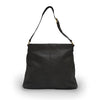 Backside of black woven leather shoulder bag, Hazel Shoulder Bag.