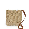 Lani crossbody bag in cream color, front view.