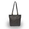 Back view of black leather tote, Petra Leather Tote.
