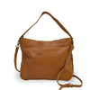 Small caramel crossbody bag, back view, Stardust Crossbody Bag.