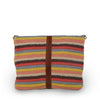 Colorful striped cotton knit bag, back view as a clutch, Yolanda Knit Foldover Crossbody Bag.