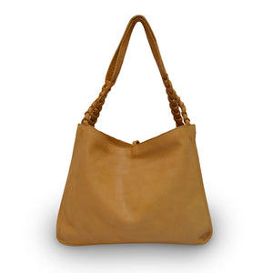 Grace, back, leather bag, honey color
