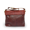 Back view of a wine colored leather shoulder bag, Nomi Shoulder Bag.