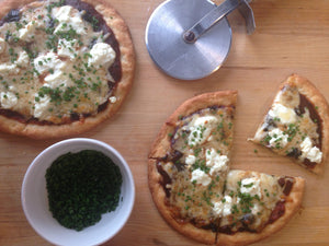 Gluten-Free 'Black & White' Pizza