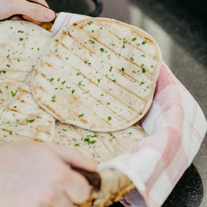 Grilled Garlic Butter Gluten-Free Naan