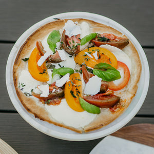 Grilled Summer Garden Tomato & Herb Pizza