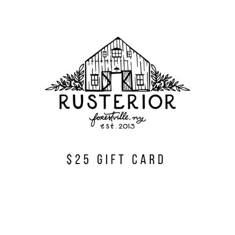 Rusterior Gift Card