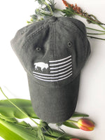"Black Buffalo Flag ""dad hat"""