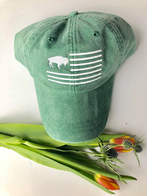 Green Buffalo Flag Dad Hat