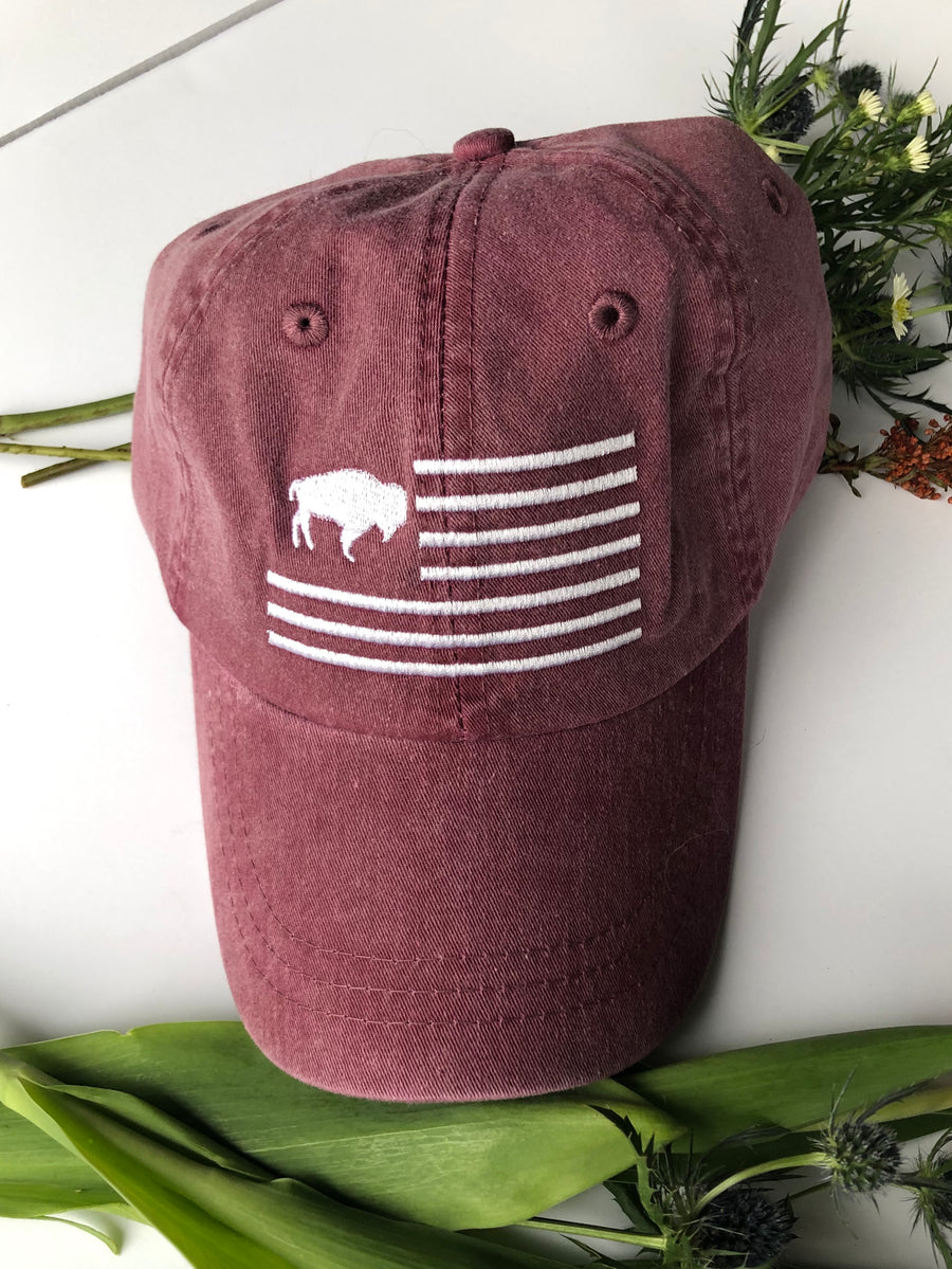 Maroon Buffalo Flag Hat