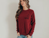 Fill your cup maroon sweatshirt