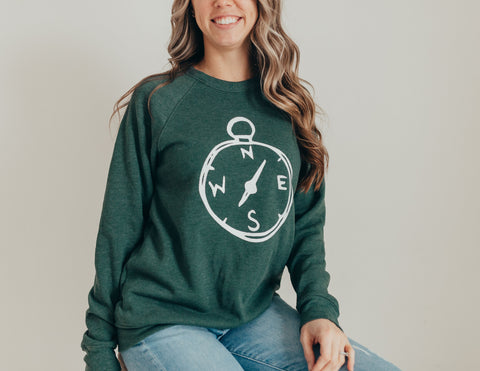 Green Compass Unisex Sweatshirt