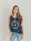 Compass  navy tank top
