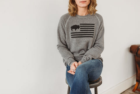 Buffalo Flag Sweatshirt