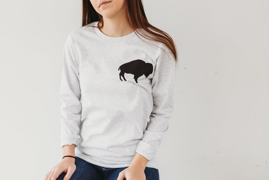 Long Sleeve Ash Buffalo Shirt