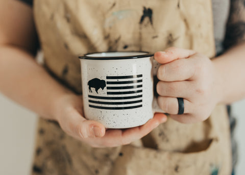 Buffalo Flag Ceramic Mug